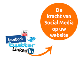 social media geïntegreerd in uw website
